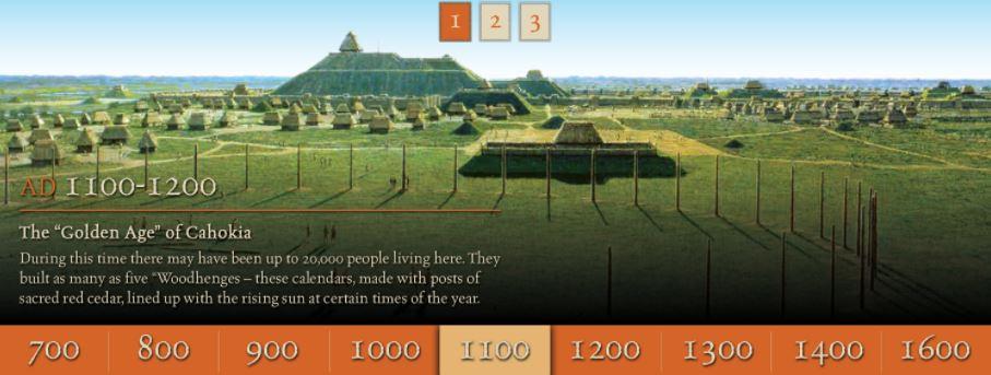 Ciudad de Cahokia, año 1100
